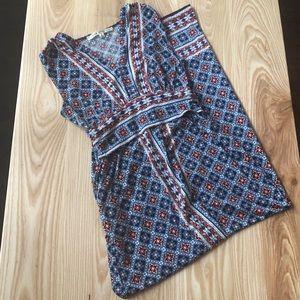 MAX STUDIO | women's boho blue maxi dress